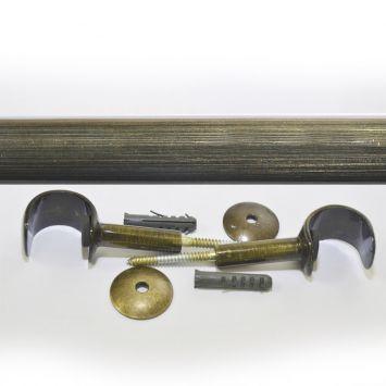 Kit para Cortinas 28 mm 150 cm sem Emenda Ouro Velho Cod: DE963AC16JAPMOB