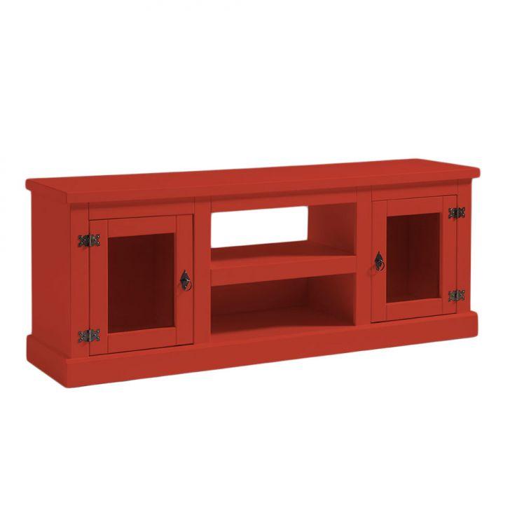 Rack com 2 Portas de Vidro Colore Vermelho Cod: CA927RA16ESXMOB