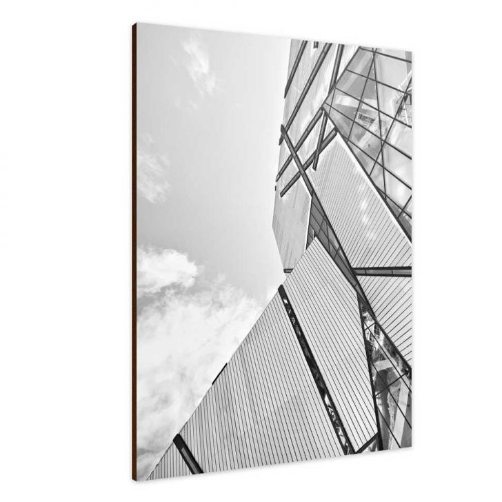 Quadro Placa Decorativa 28400005 Edificio Preto e branco Cod: GA267AC06OQBMOB