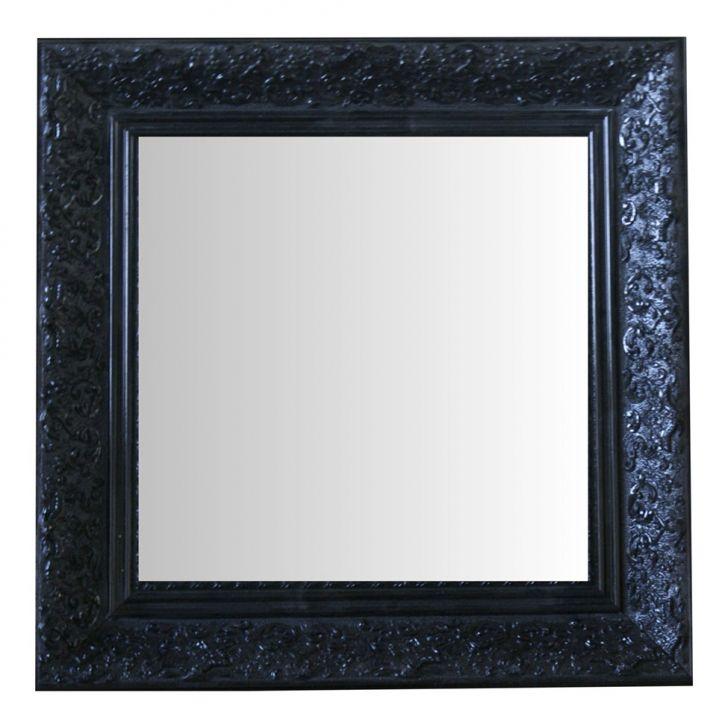 Espelho Moldura Rococó Raso 16382 Preto Art Shop