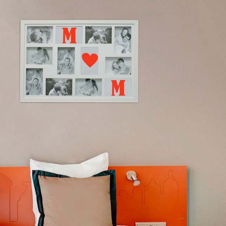 Painel Bee Collection Words Mom 9 Fotos 10x15cm Branco Kapos