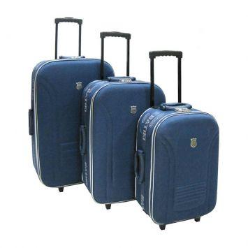 Conjunto De 03 Malas ET665 Azul Batiki Cod: BA782AC45QDAMOB