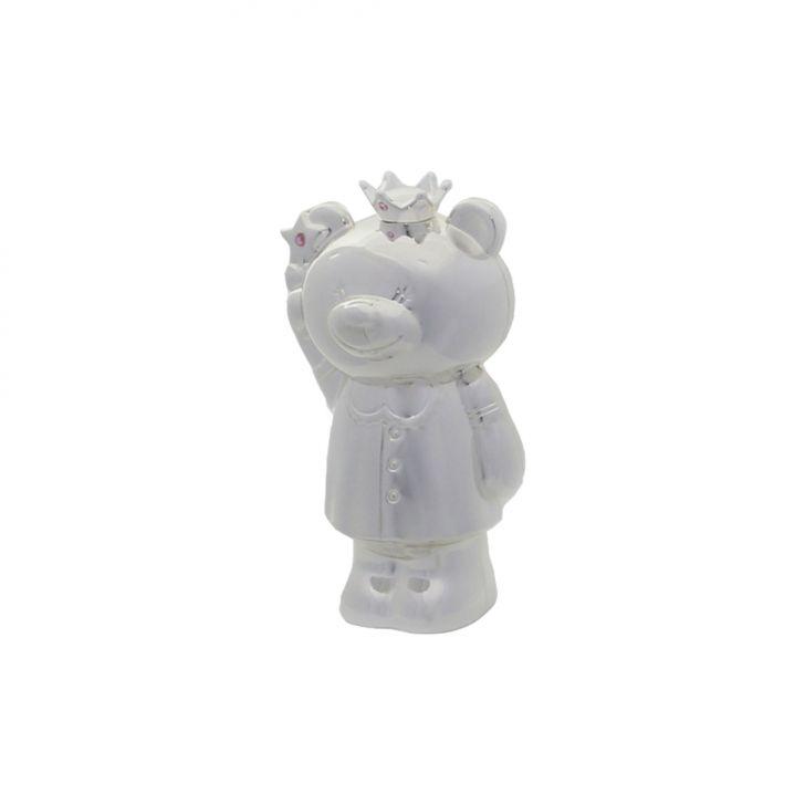 Cofre Urso de Zamac 8,2x6x14,6 cm Cod: 7899768037235