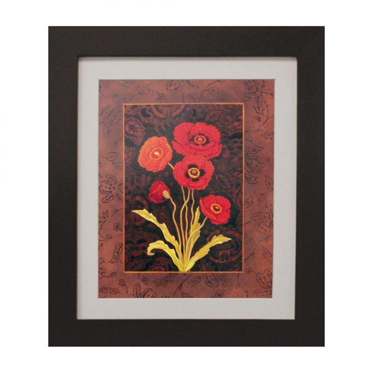 quadro-montado-com-vidro-e-papel-red-flower-ii-30x35cm