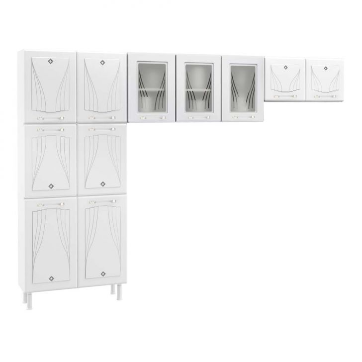 Cozinha Compacta 03 Star 11 Portas Branca Cod: 7899673209987
