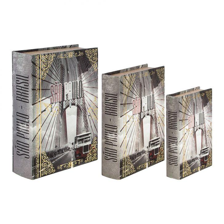 conjunto-3-caixas-organizadora-book-box-sao-paulo-calhambeque-cinza-oldway