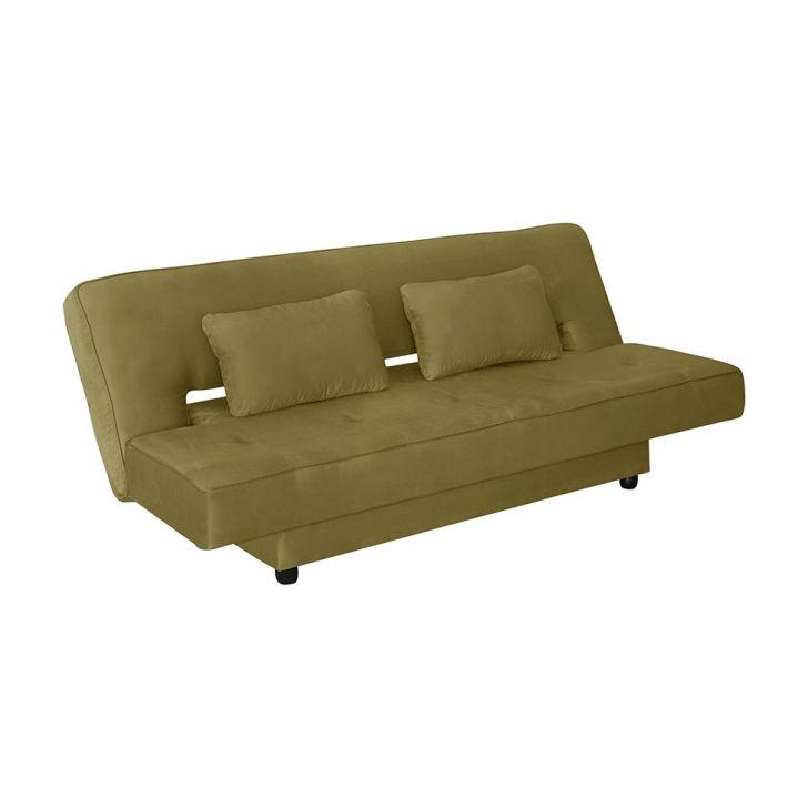 Sof cama casal elite suede liso verde american confort - Sofa cama verde ...