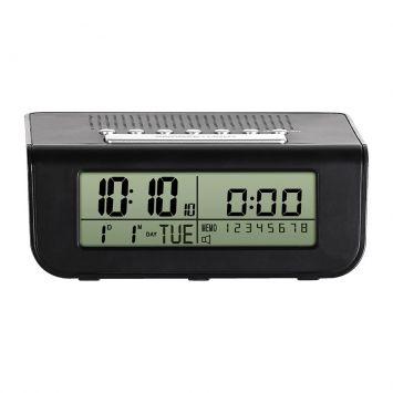 Rádio Relógio Preto 11x14x5 Herweg Cod: HE285AC84CFBMOB