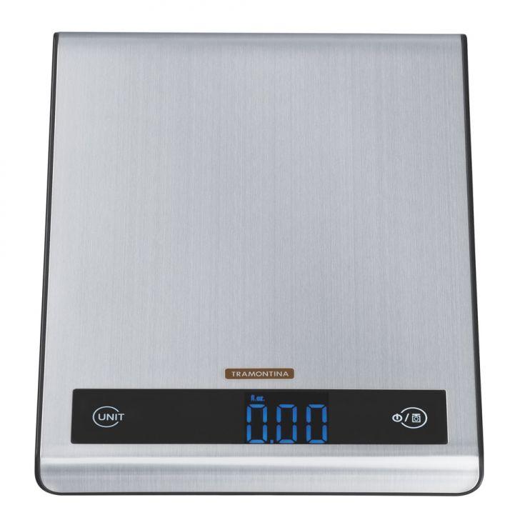 Balança Digital Aço Inox Para Cozinha Tramontina Cod: TR103AC64NJFMOB