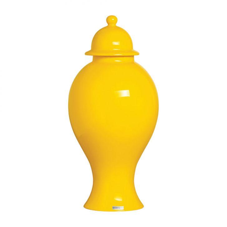 Vaso Pote de Cerâmica 44x20x44 Amarelo 31144 Mazzoti