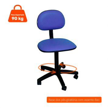Cadeira de escritorio secretaria giratoria absolut azul