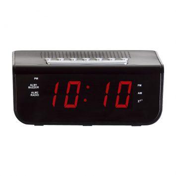 Rádio Relógio Preto 6x16x14 Herweg Cod: HE285AC34CDDMOB