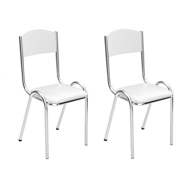 Conjunto 2 Cadeiras Fixa C - 677 Napa Branco Cod: BR558CH34XCNMOB