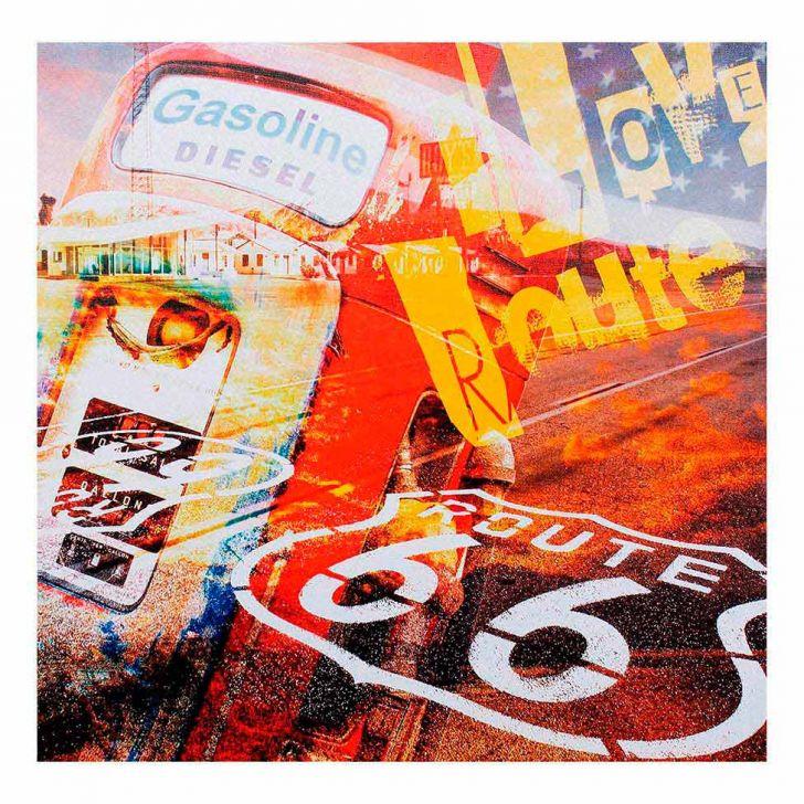 Quadro Bomba Gás I Love Route 66 Fullway 50X50 Cod: FU961AC24HWPMOB