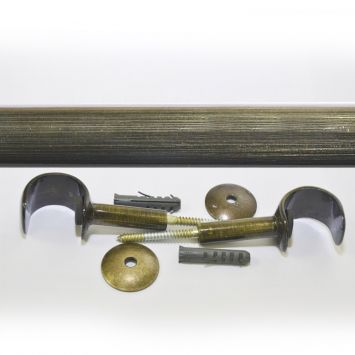 Kit para Cortinas 28 mm 200 cm sem Emenda Ouro Velho Cod: DE963AC14JARMOB