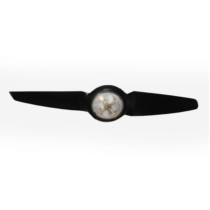Ventilador de Teto IC / Air LED 18w Luz Direta Preto 220V com Controle Remoto Cod: IC004HI04JNRMOB