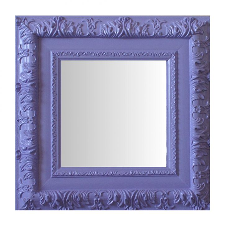 Espelho Moldura Rococó Externo 16358 Lilás Art Shop