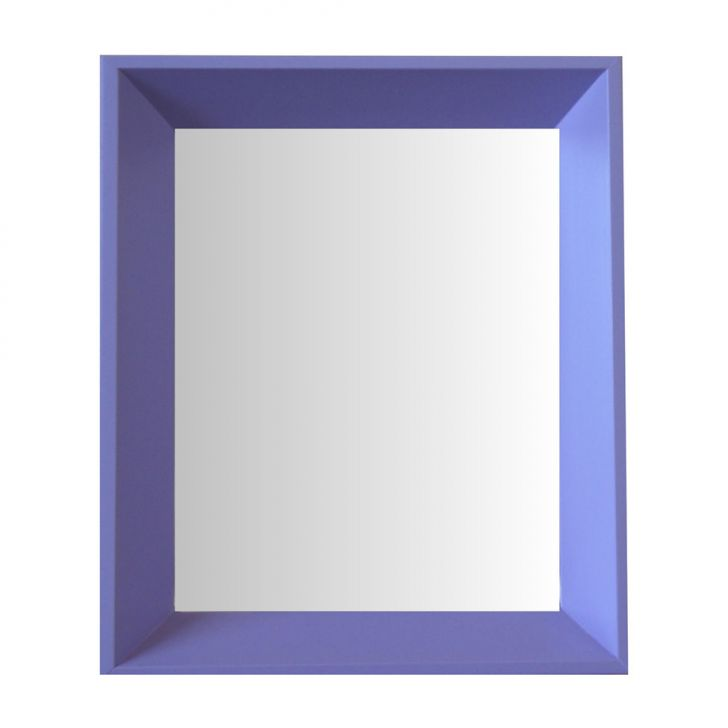 Espelho Moldura Madeira Lisa Fundo 16211 Lilás