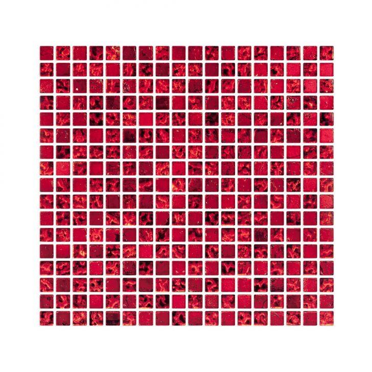 Placa De De Vidro E Pedra Fusion FUS24 Vermelho E Preto Metalizado Cod: CO674HI73USCMOB