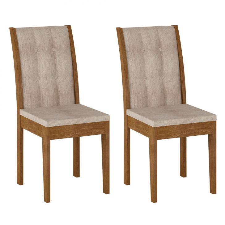 Conjunto 2 Cadeiras Laguna Ypê E Bege Rústico Cod: RU994CH63KTSMOB