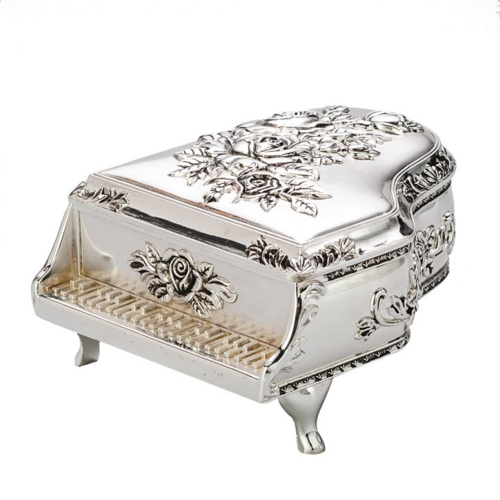 Porta Jóia Silver Plated Em Forma De Piano Lyor Cod: LY618AC23RYAMOB