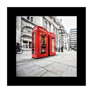 Quadro Red Phone 100x100 GrupoLush Cod: GR520AC23YVWMOB