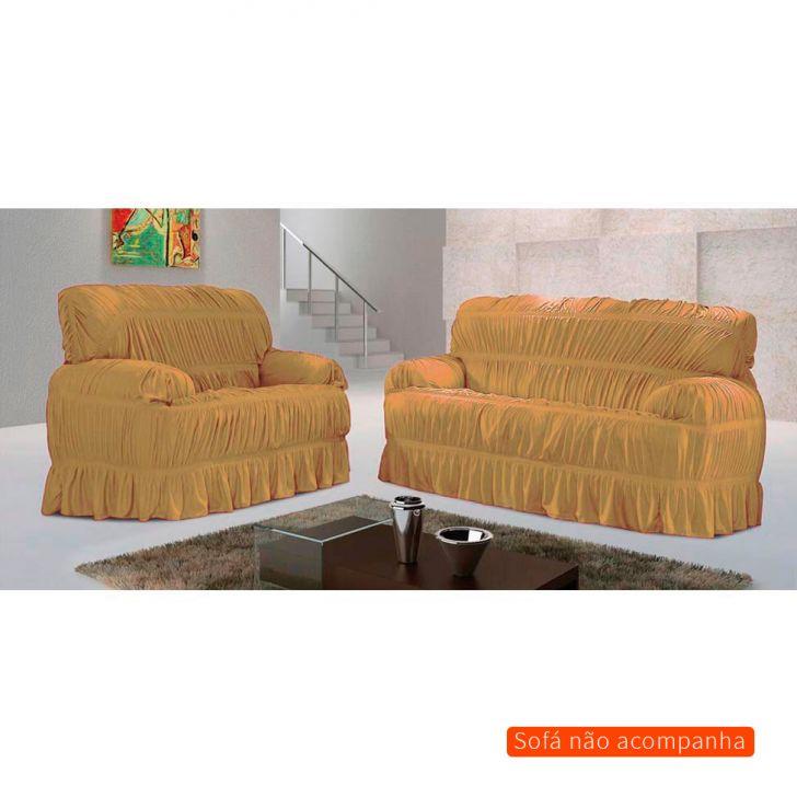 Capa para sofá Malha Bege 70x200 cm - 3 e 2 lugares Cod: 7898523005205