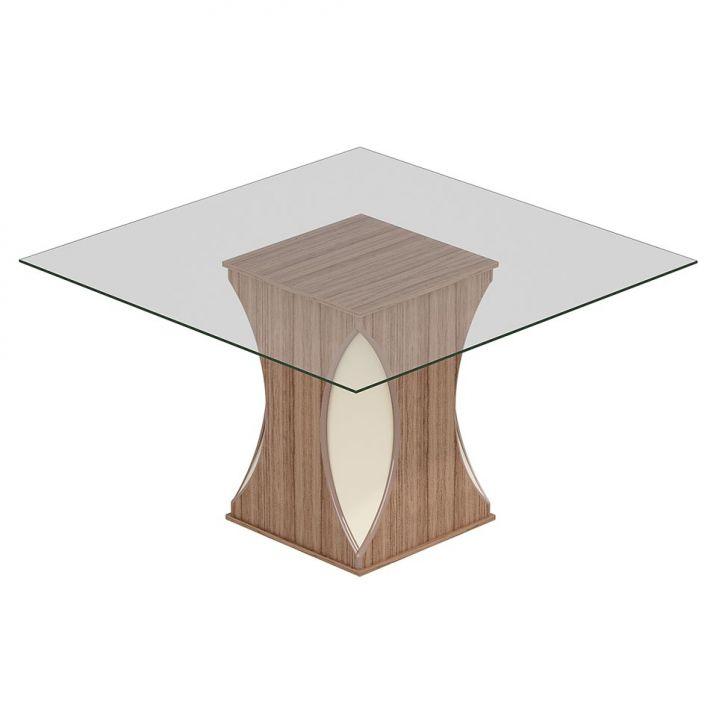 Mesa de Jantar Avulsa Quadrada Andreia 135x135 cm Cedro Perola Cimol Cod: CI381TA92KTVMOB