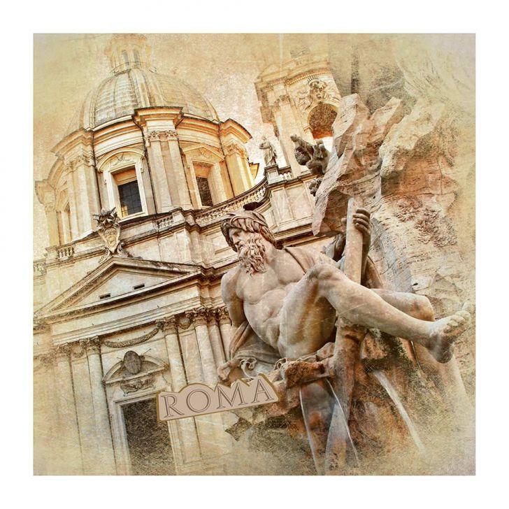 Quadro Impressão Digital Roma 30x30