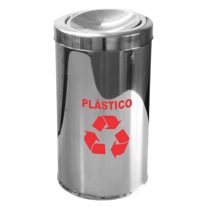 Lixeira Para Coleta Seletiva Com Tampa Basculante Plástico 25L Cod: JE810AC62YJTMOB