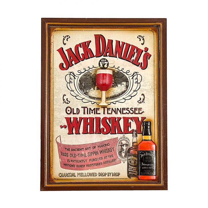 Quadro Jack Daniels Branco 54X39X4cm OLDWAY Cod: OL960AC52VSDMOB
