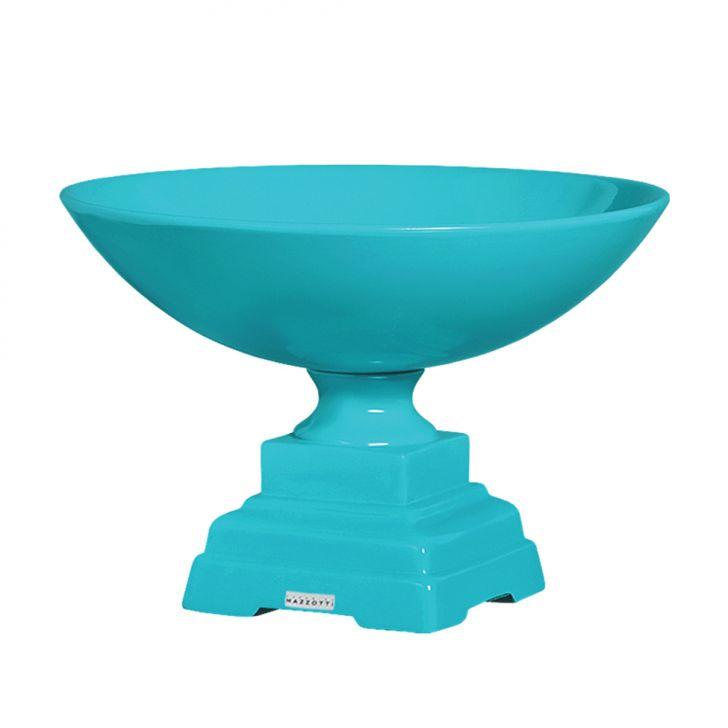 Centro De Mesa de Cerâmica 22cm Azul Claro Mazzotti Cod: CE705AC42HSVMOB