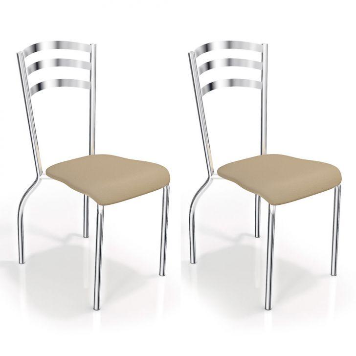 Conjunto 2 Cadeiras de Cozinha Portugal Nude Cod: 7895155343699