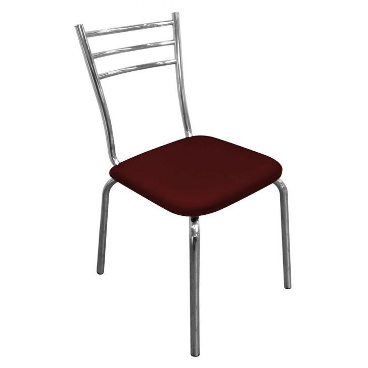 Cadeira Em Aluminio Com Assento Em Couro Vermelho Cod: DA167CH22MWJMOB