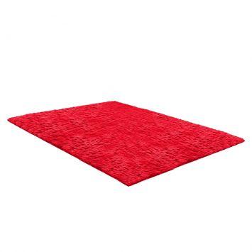 Tapete para sala samara shaggy 100x140 cm vermelho asiatex