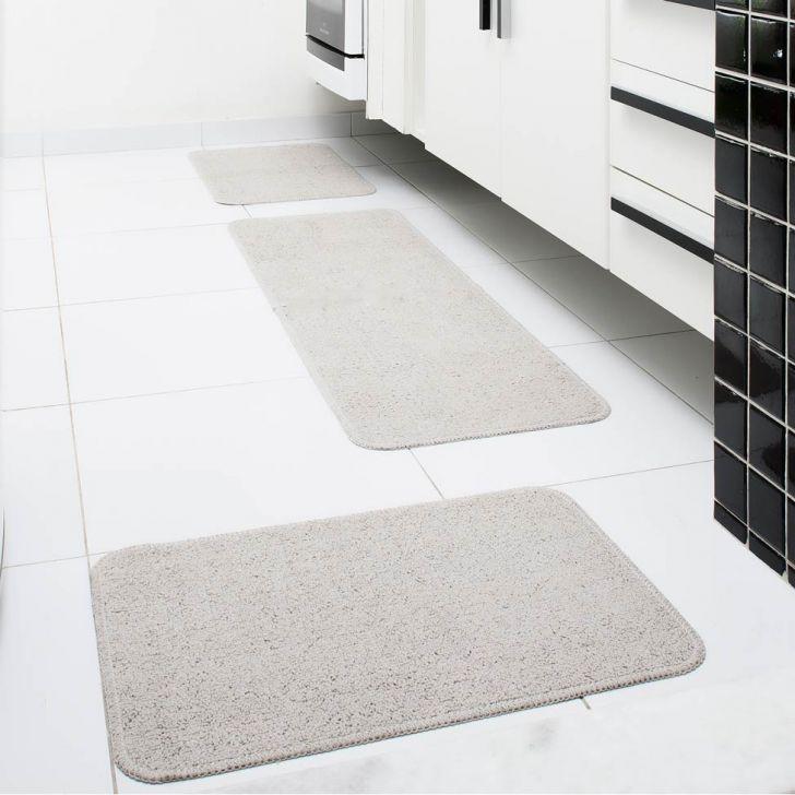 Conjunto de Tapete para Cozinha Natura 3 Peças Areia Oásis Tapetes Cod: OA609AC81GEWMOB