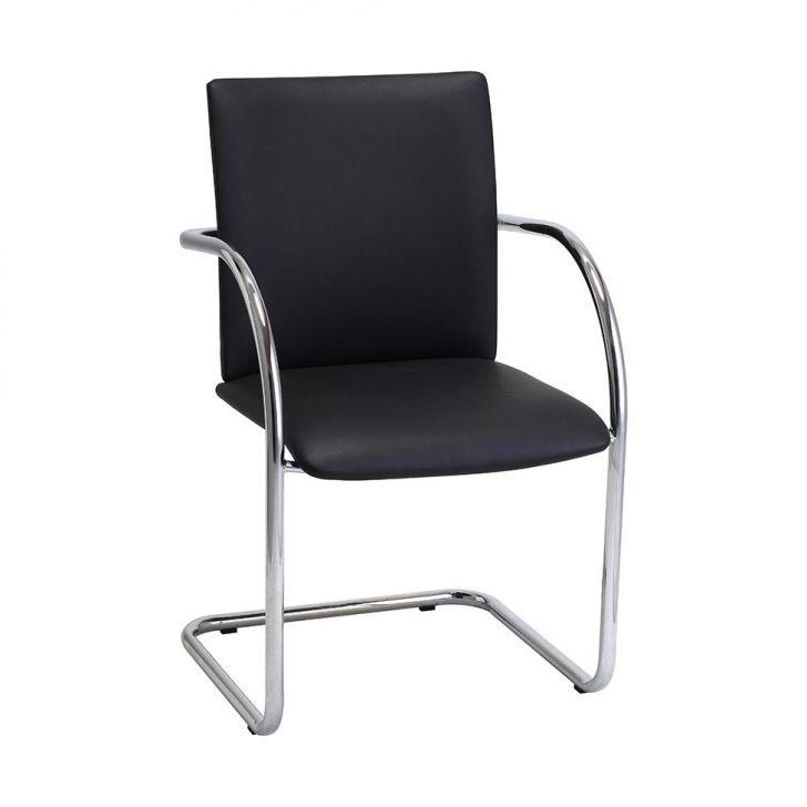 Cadeira Estofada 354-X Preta Criativa
