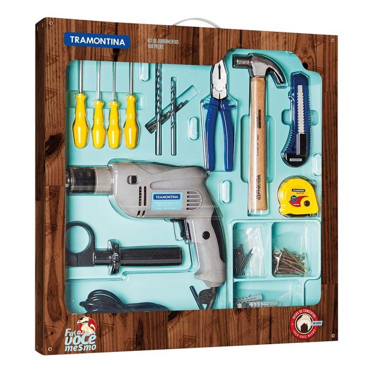 Kit de Ferramentas 110V 100 Peças Cod: TR103HI71ATCMOB