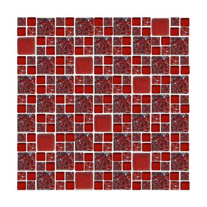 Placa De De Vidro Mini Mondrian 22 Vermelho Cod: CO674HI61VXIMOB