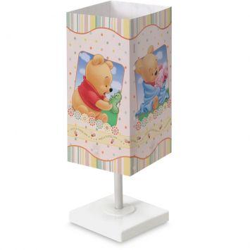 Abajur quadrado pooh baby