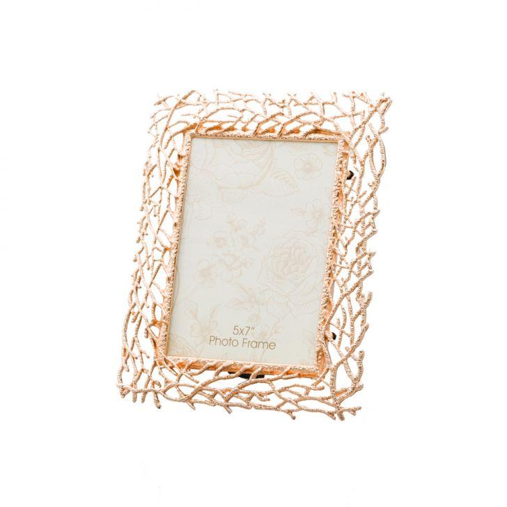 Porta - Retrato Rose Gold de Zamac e Vidro 20x25 cm Cod: 7899768036894