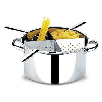 Espagueteira 4 divisoes savoy prata 10 l
