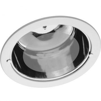 Luminaria embutir 7 5 e 27 c vidro branco bivolt