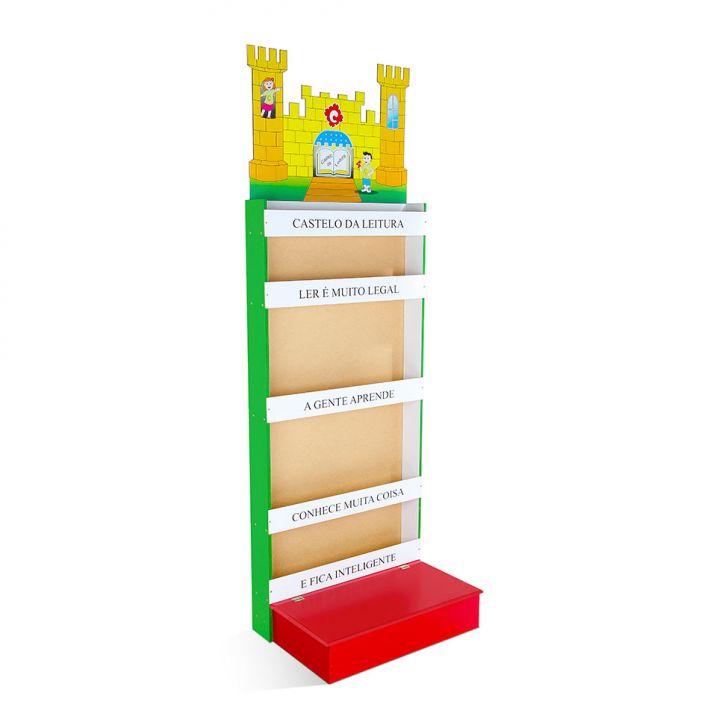 Castelo Da Leitura MDF Caixa De Papelão Colorido Carlu Brinquedos Cod: CA366AC41ICOMOB