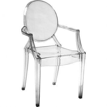 Cadeira sofia incolor com braco