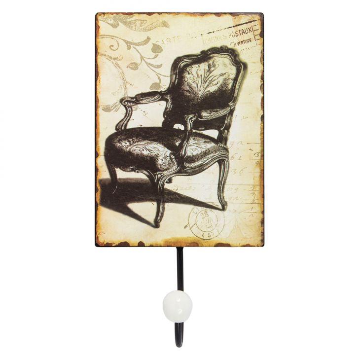 Cabideiro Metal Cadeira 1Gancho Marrom Oldway Cod: OL960AC21EUSMOB
