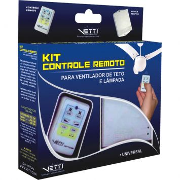 Kit controle remoto ventilador de teto vetti branco