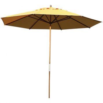 Ombrellone bagum de madeira 3 00m amarelo