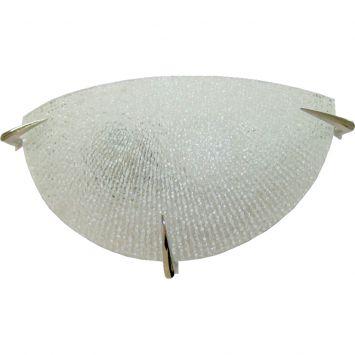Arandela prisma vidro craquelado 30cm 1 lampada e 27 max 60