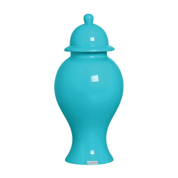 Pote de Cerâmica 36cm Azul Claro Mazzotti